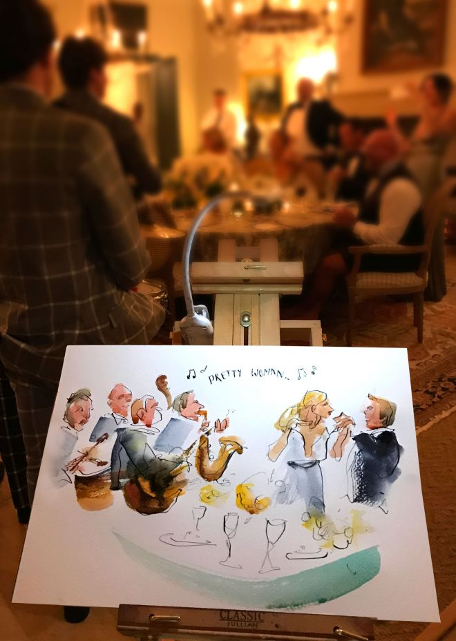 live-wedding-artist-illustration-band-dancing-painting