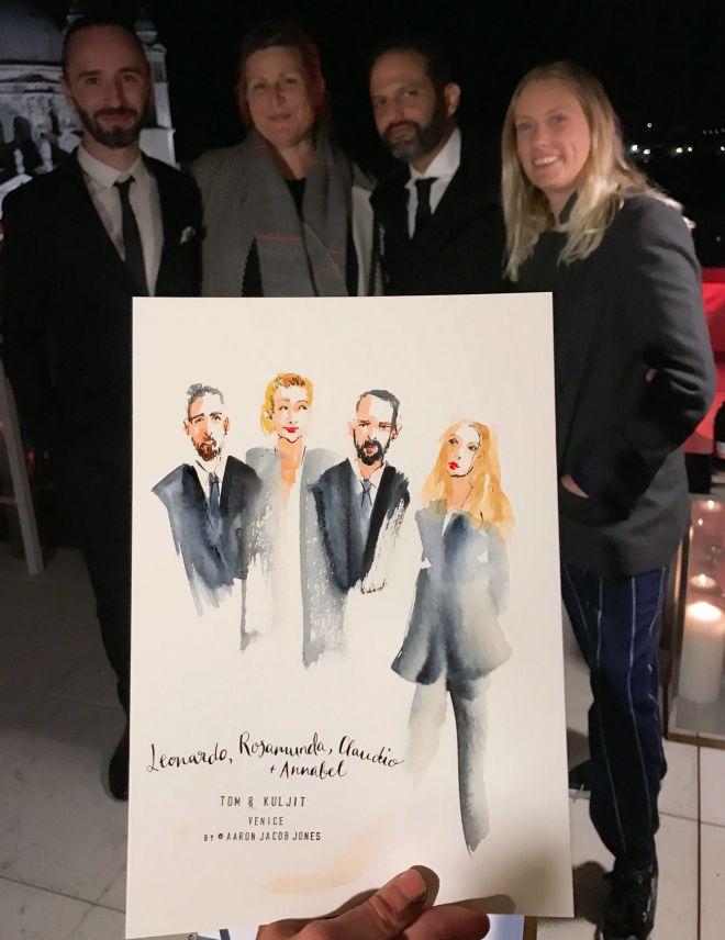 wedding guest portraits by live event artist illustrator Aaron Jacob Jones